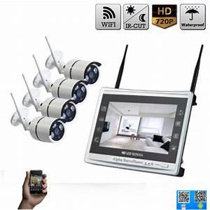 Video Surveillance Sans Fil : kit vid o surveillance magasin 4 cam ras hd sans fil ~ Dailycaller-alerts.com Idées de Décoration