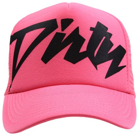 dc snapback black grey couture neon pink with black trucker hat