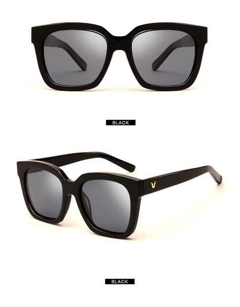 kacamata pria korean v style polarized sunglasses black gray jakartanotebook com