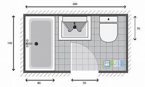 best plan salle de bain 3m2 gallery seiunkelus With agencement salle de bain 3m2