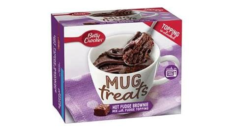 betty crocker hot fudge brownie mix mug treats  fudge