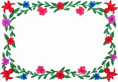 Frame Rectangle Flower Colorful Transparent Onlygfx Px