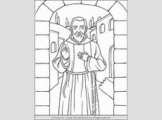 Saint Padre Pio Coloring Page The Catholic Kid