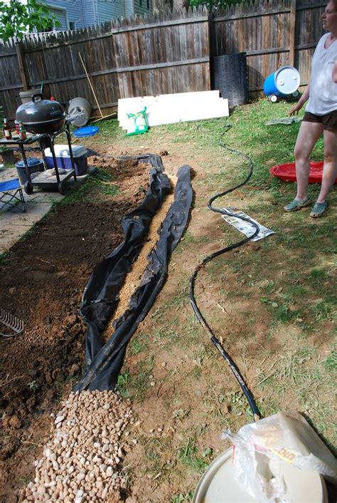 images  french drains  pinterest gardens