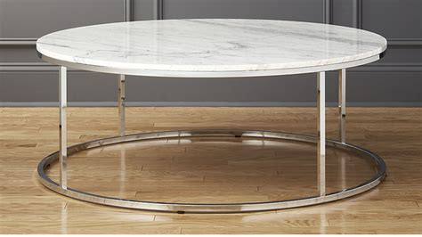 smart round marble top coffee table smart large round marble top coffee table cb2