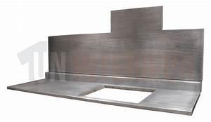 Plan De Travail En Zinc : cr dence en zinc et plan de travail sur mesure ~ Teatrodelosmanantiales.com Idées de Décoration