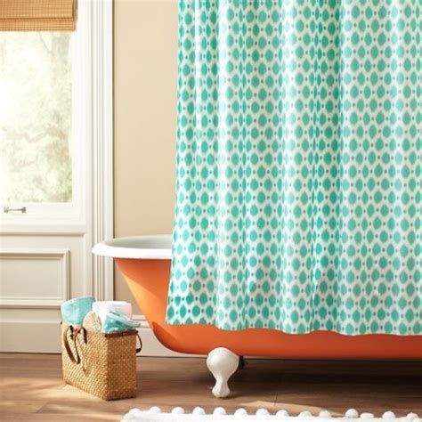 ikat dot organic shower curtain eclectic shower