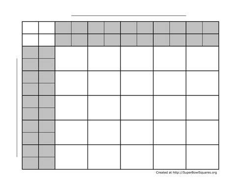 free printable football squares template football squares bowl squares play football squares