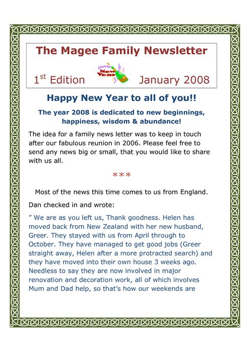 new year letter happy new year letter sle best letter sle 28235