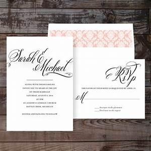 elegant wedding invitations formal wedding invites timeless With formal wedding invitations etsy