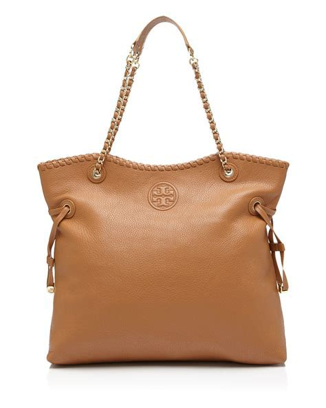 Lyst   Tory Burch Marion Slouchy Tote in Brown