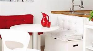 Kleine Sitzecke Küche : moderne sitzecke k che f r k che wei mit sitzkissen rot ~ Michelbontemps.com Haus und Dekorationen