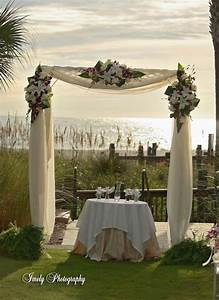 Ceremony arbor and fabric help weddingbee for Decorating a trellis for a wedding