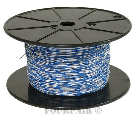 cross connect telephone wire cable 24 2 2c 24 awg 1 pair blue white 1000 ft ebay