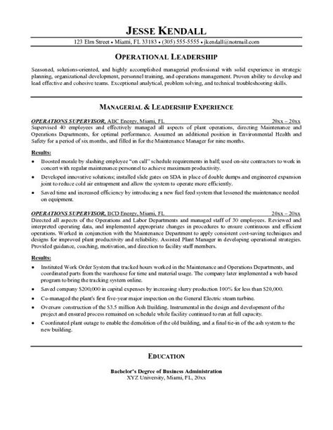 19605 supervisor resume templates manager resume objective sle best professional