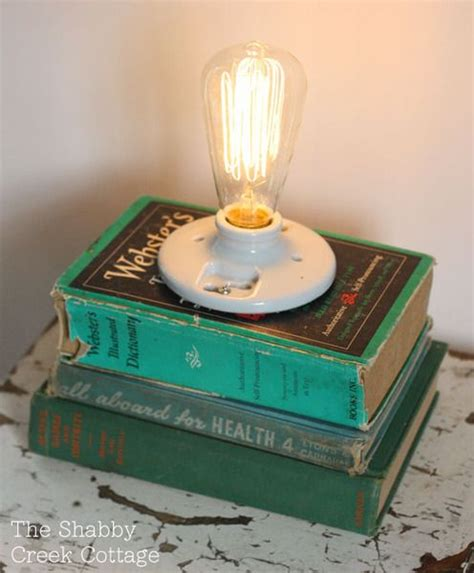 diy   book lamp   shabby creek cottage blog