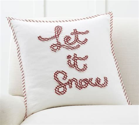 Snow Pillows by Let It Snow Applique Pillow Cover Pottery Barn