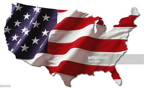 Usa Shaped Flag Stock Photo