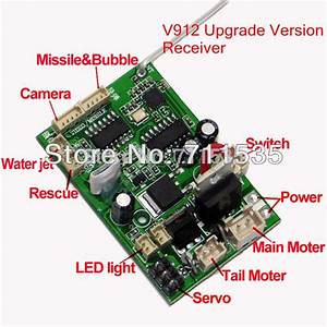 V912 16 New Upgrade Version Receiver Board Mainboard Circuit Board With Camera Function Spare
