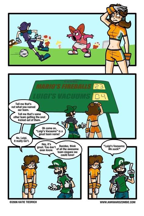 daisy luigi comic mario kickin super smash bros strikers hail nekoyasha comics funny zombie awkward anti feel awkwardzombie peach deviantart