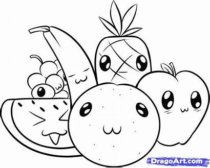 Coloring Pages Watermelon Draw Fruit Printable Getcolorings
