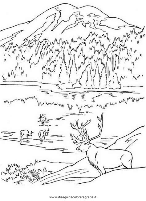 disegno montagna misti da colorare