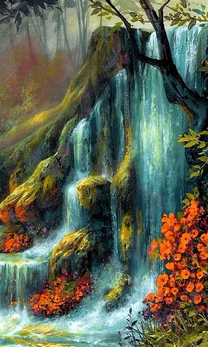 Passion Scenery Gifs Nature Painting Anime Plaisir