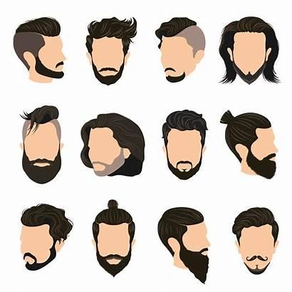Hairstyle Vector Icons Illustration Hair Cartoon Beard