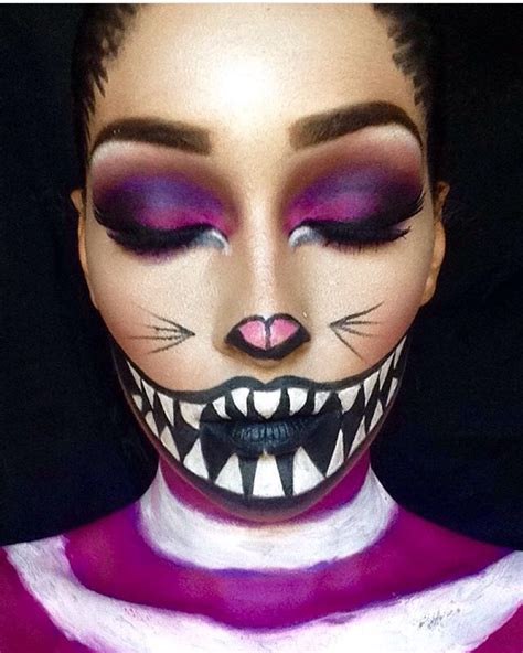 """We're All Mad Here"""" Cheshire Cat  Halloween Makeup"""