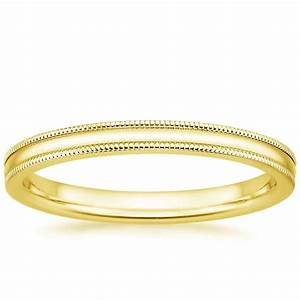 2mm milgrain wedding ring in 18k yellow gold With 18k wedding rings