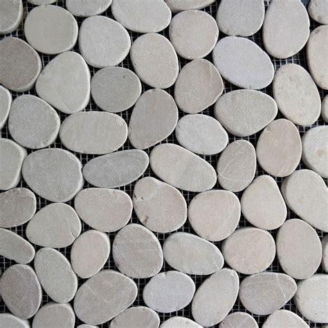 pebble tile mosaics beige sliced pebble mosaic