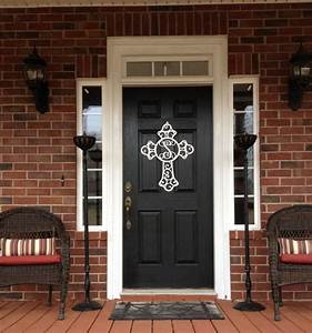 24 best images about front door decorating ideas on for Metal letters for front door
