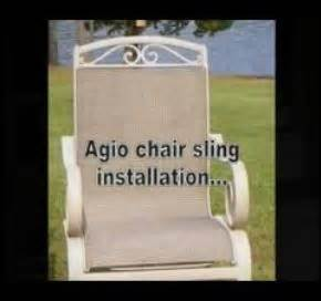 how to install patio pool furniture fabric sling replacments