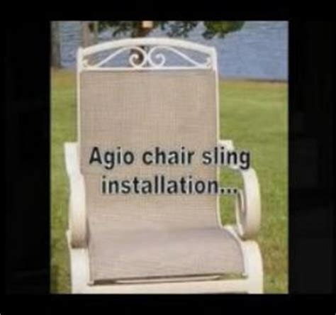 Agio Patio Furniture Replacement Slings by How To Install Patio Pool Furniture Fabric Sling Replacments