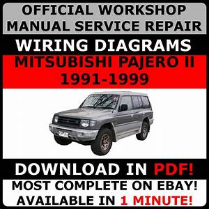 Official Workshop Repair Manual For Mitsubishi Pajero Ii