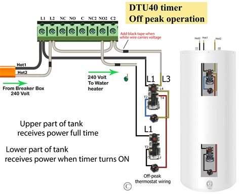 wire water heater thermostats