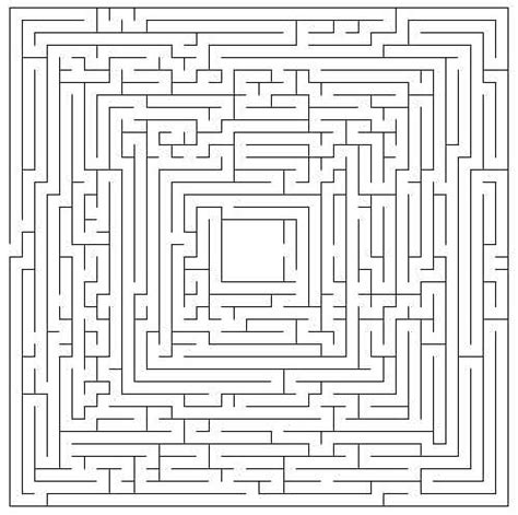 printable mazes print  hard maze page puzzle  kids network