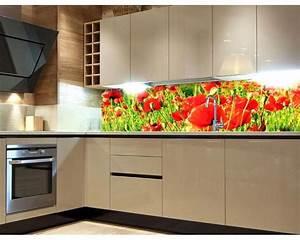 kuchenruckwand folie rote mohnblumen 180 x 60 cm dimex With balkon teppich mit tapete mit mohnblumen