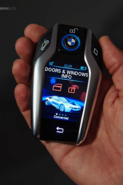 bmw introduces  key fob  touchscreen display