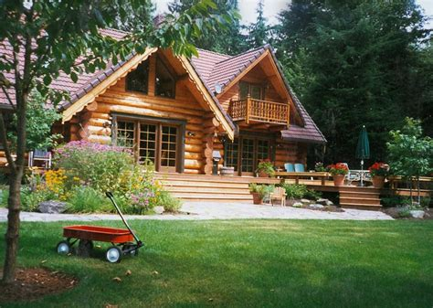 Backyard Log Cabin by Rustic Landscaping Dos Don Ts Landscaping Network