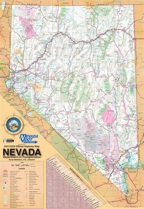 large detailed tourist map  nevada