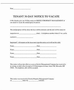 10 30 day notice templates free sample example format With renters 30 day notice template