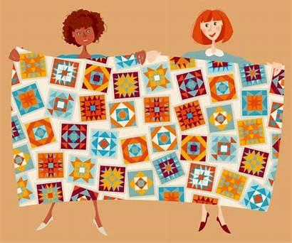 Quilt Cartoons Patchwork Illustrations Quilting Clip Newest