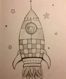 Laika the astronaut dog Tattoo sketch book spaceship ...