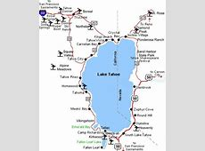 Maps of Lake Tahoe ski resort in USA SNO