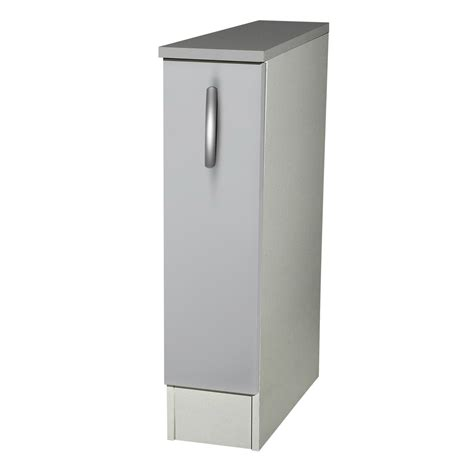 meuble cuisine gris meuble de cuisine bas 1 porte gris aluminium h86x l15x