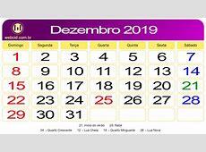 Calendário de Dezembro de 2019 webcid