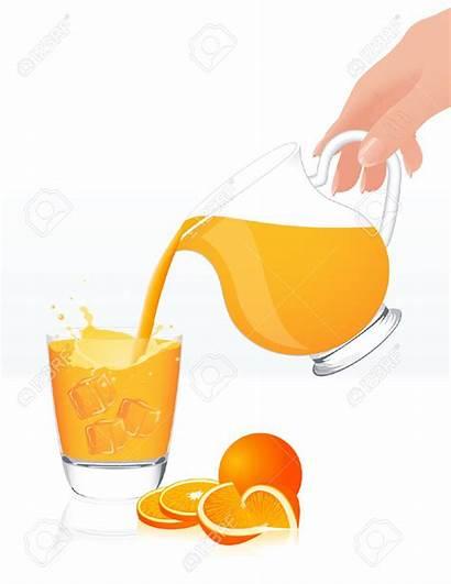 Juice Clipart Pour Orange Illustration Jar Pouring