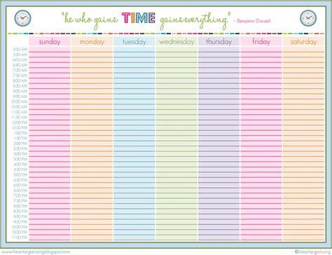 Routine printable, Schedule printable, Organization printables