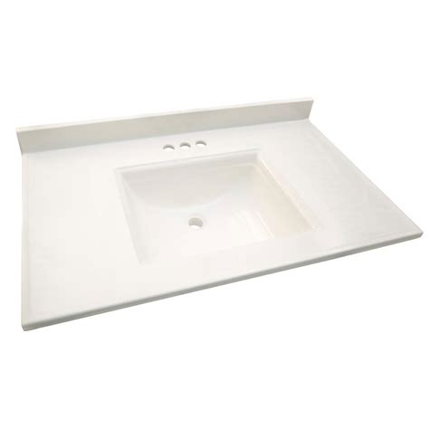 31 x 22 kitchen sink design house camilla 31 in cultured marble vanity top in 7327
